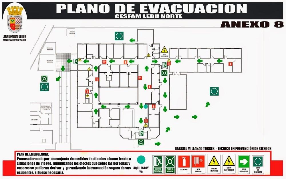 Plan de emergencia de evacuación ejemplo.